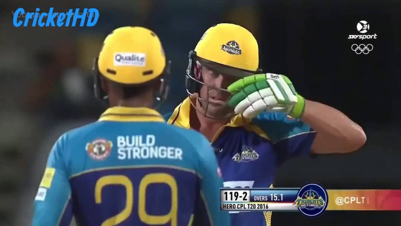 Ab de Villiers All Sixes in CPL T20 2016 HD