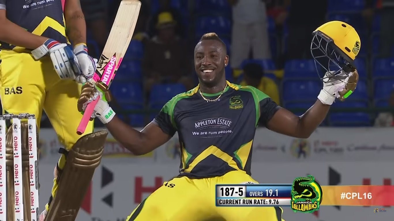 Andre Russell Fastest Century 100 off 44 CPL 2016 HD