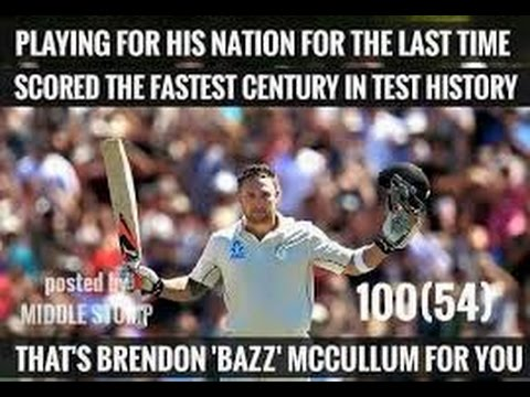 Brendon McCullum World Record Fastest Test Century 145 off 79 Balls