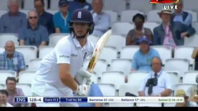 Sohail Khan Gets Gary Ballance 4th Test Day 4 2nd Inning,England vs Pakistan